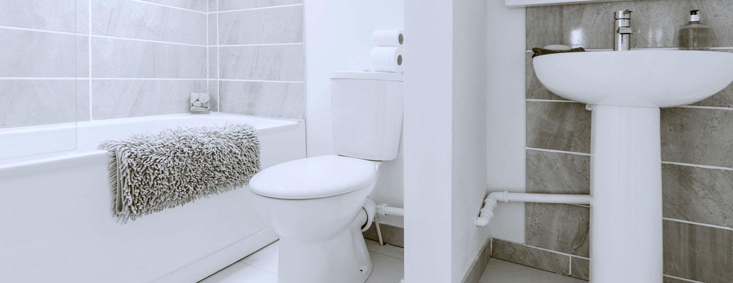 contemporary light bathroom